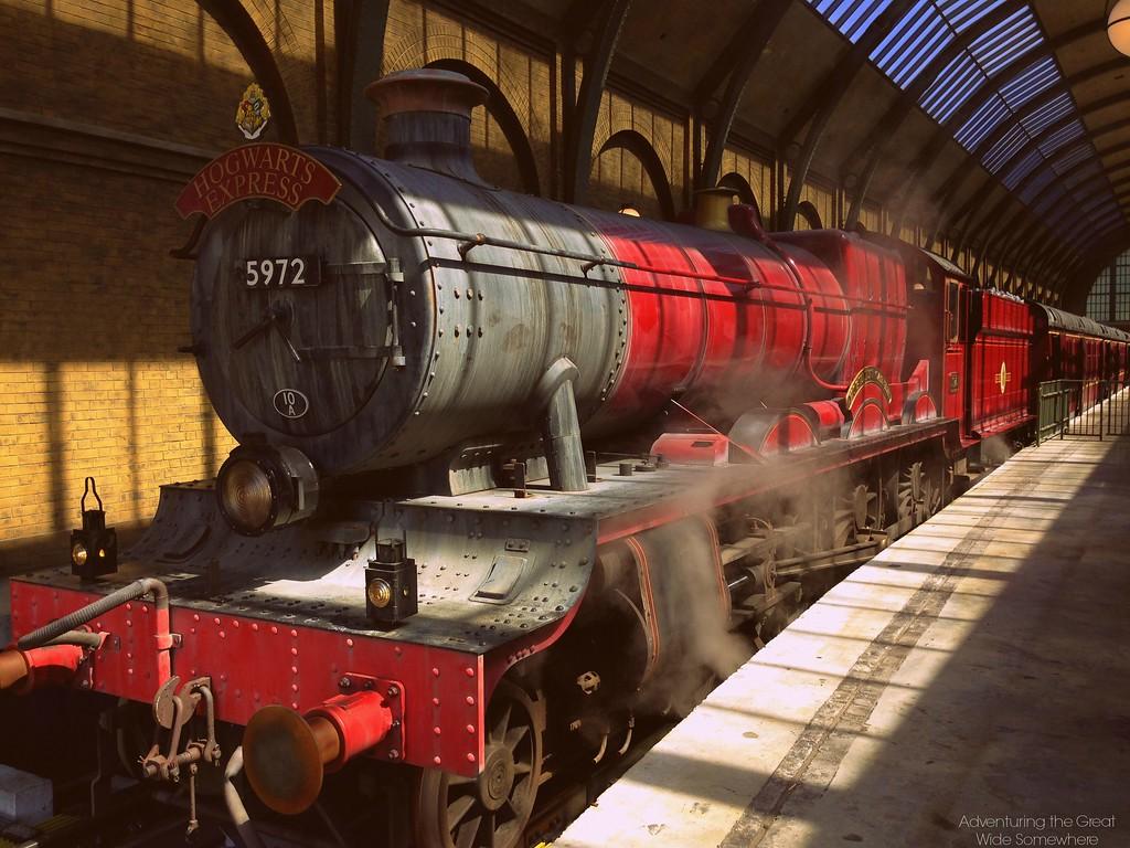 The Hogwarts Express at Platform 9 and 3 Quarters