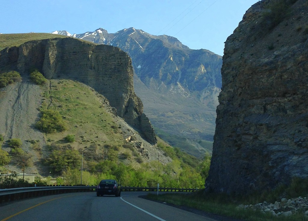 Driving Along the Provo Canyon Scenic Byway in Utah