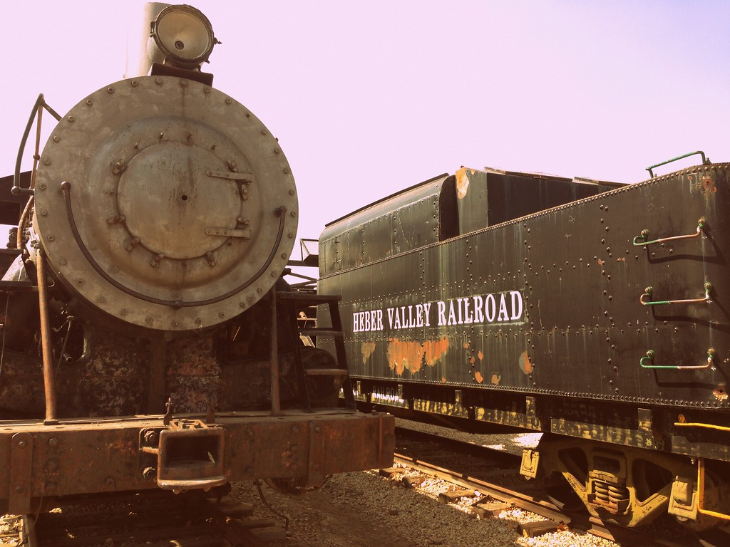 Historic Trains at the Heber Valley Railroad Site in Heber Valley, Utah