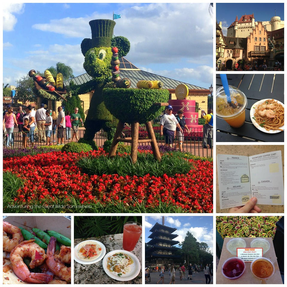 Sampling at the Epcot Food and Wine Festival 2015