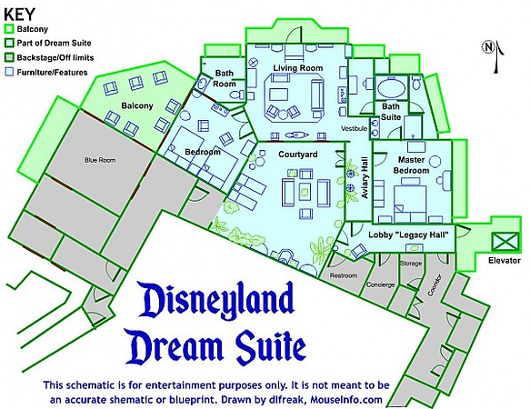 disneyland dream suite 0 blue print schematic layout