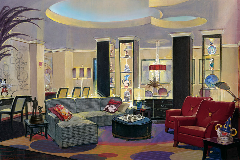 """A PENTHOUSE FIT FOR THE MOUSE---One of the most unusual VIP lodging experiences in the world, the all-new Mickey Mouse Penthouse will be among the dream surprises awarded to lucky Disneyland Resort guests as part of the Disney Dreams Giveaway during """"The Year of a Million Dreams."""" Debuting December 1, 2006, and located atop the Disneyland Hotel in Anaheim, California, the Mickey Mouse Penthouse is decorated with a happy mixture of luxury, technology and whimsy."""