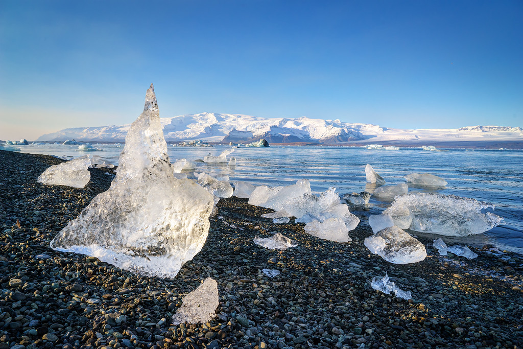 Ice at Jokulsarlon Lagoon