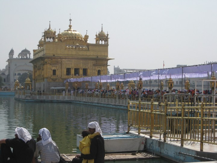 A line to enter the Golden Temple in Amritsar, India
