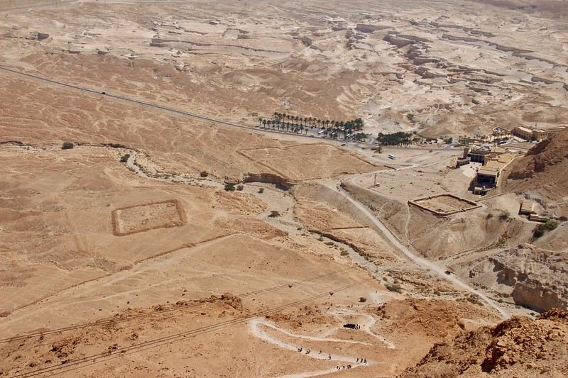 Roman camps, the line of the Roman siege wall - Masada National Park