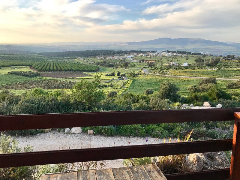 View from Herb Farm Gilboa