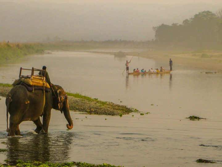 early morning canoe ride on the rapti river