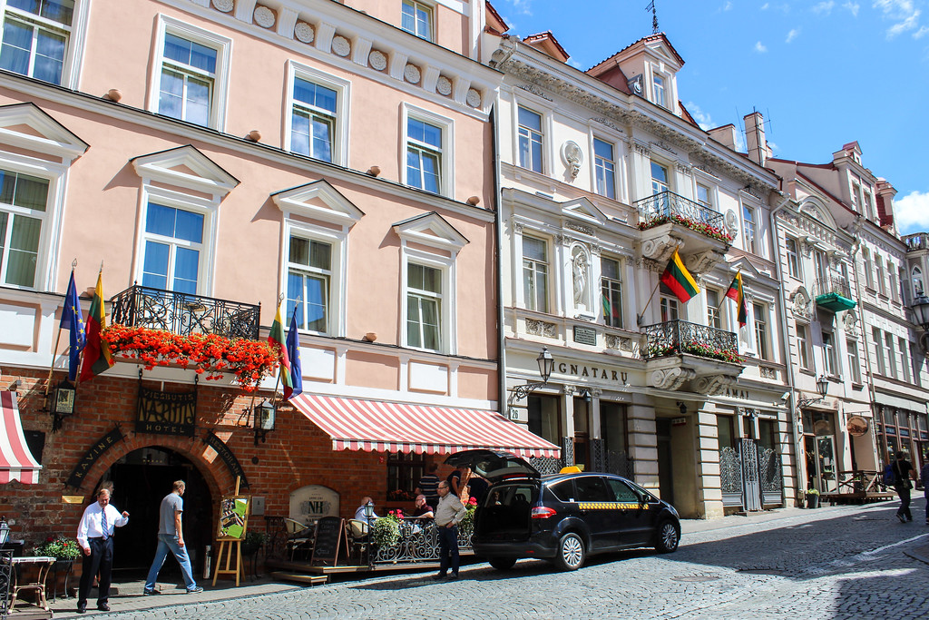 travel the baltics and roam down a street like this one