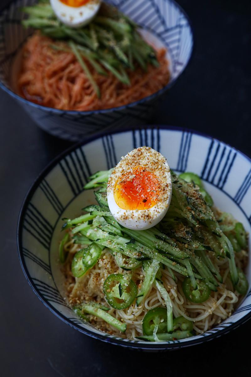 Korean noodles bibimmyeon