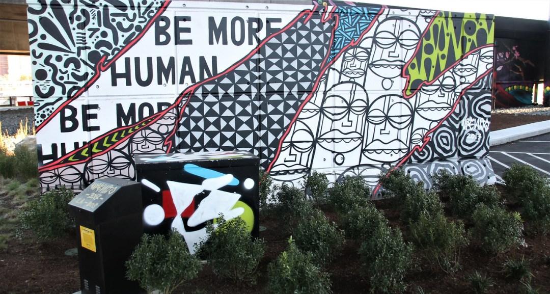 Upendo street art mural in Boston, MA