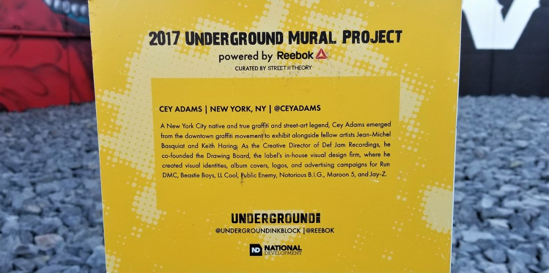 Underground Mural Project sign
