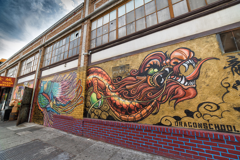 Dragon School street art inspiring neighborhoods