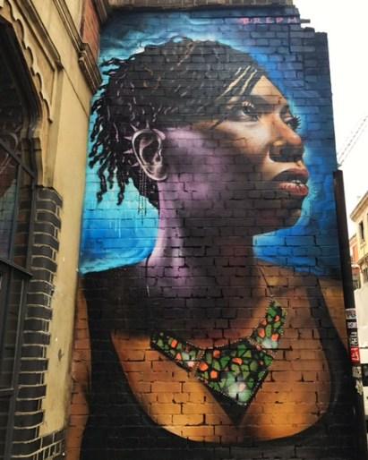 street art mural in London