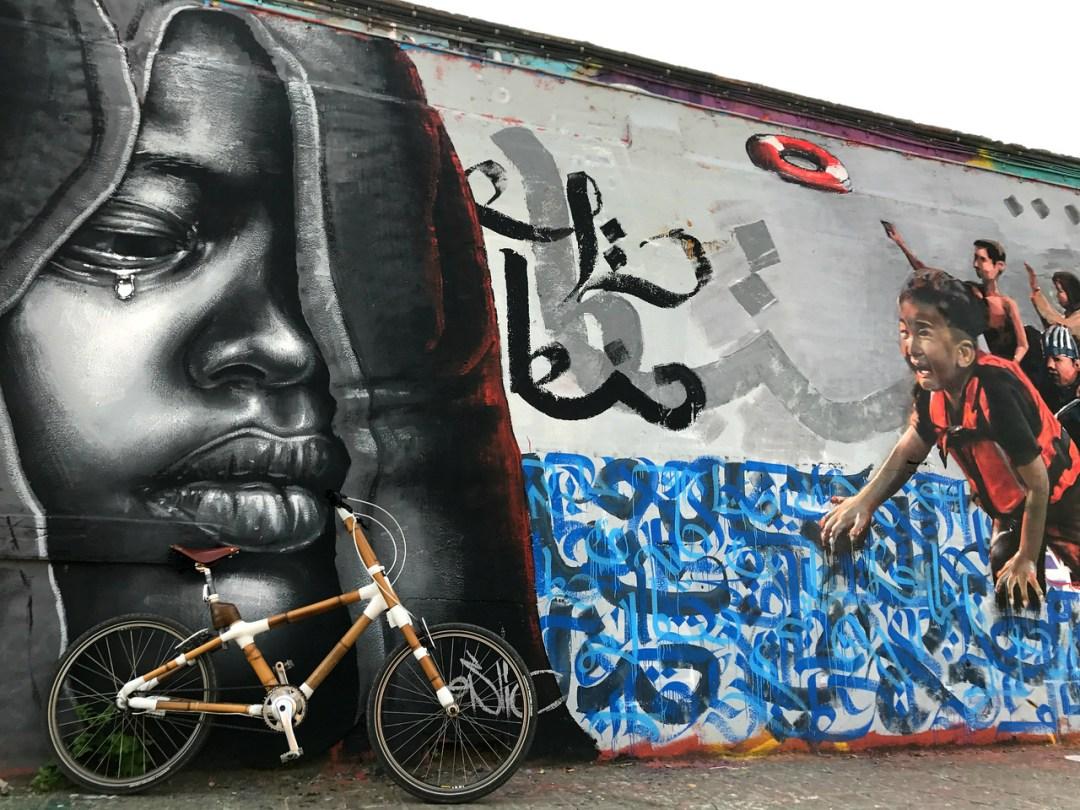 Art tour by bamboo bike - Street Art of Barcelona - StreetArtChat.com