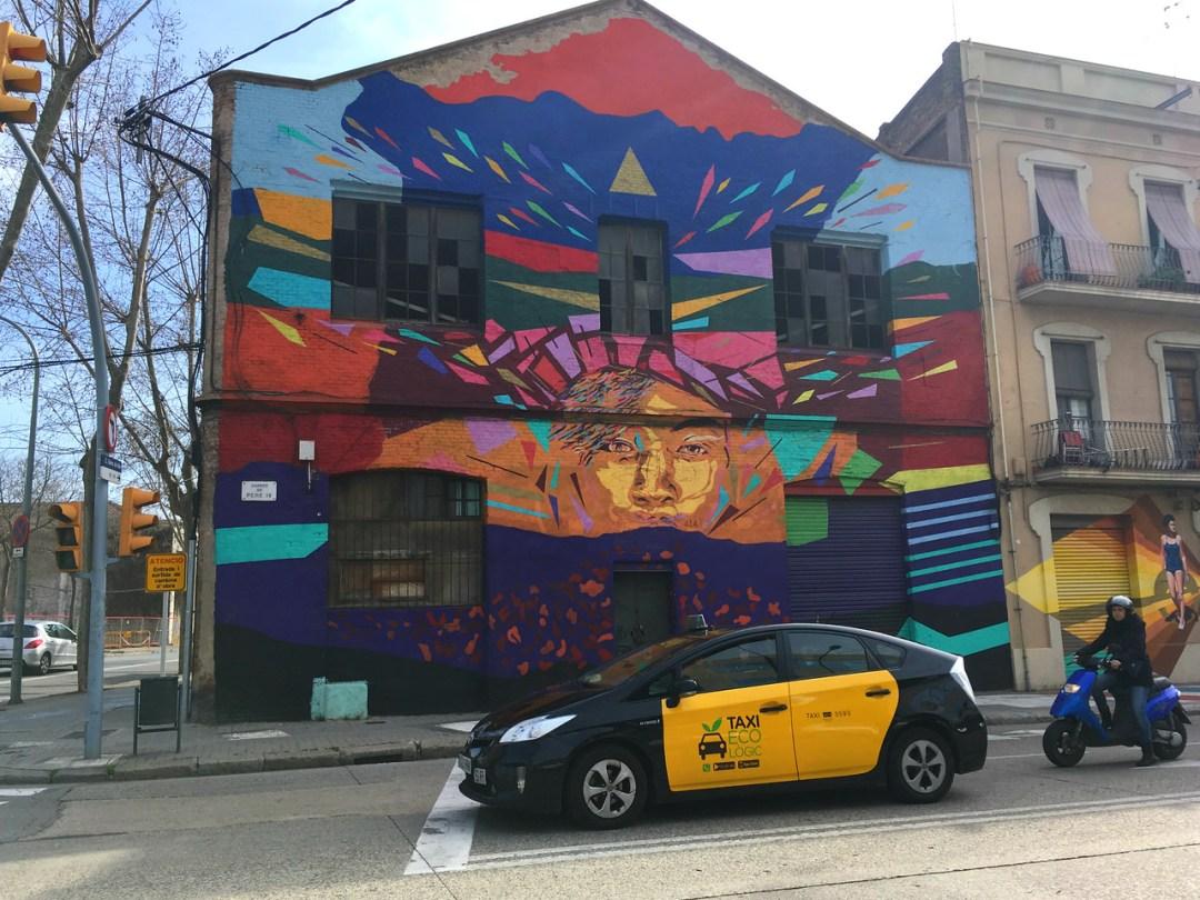 Touring street art by bike - Street Art of Barcelona - StreetArtChat.com