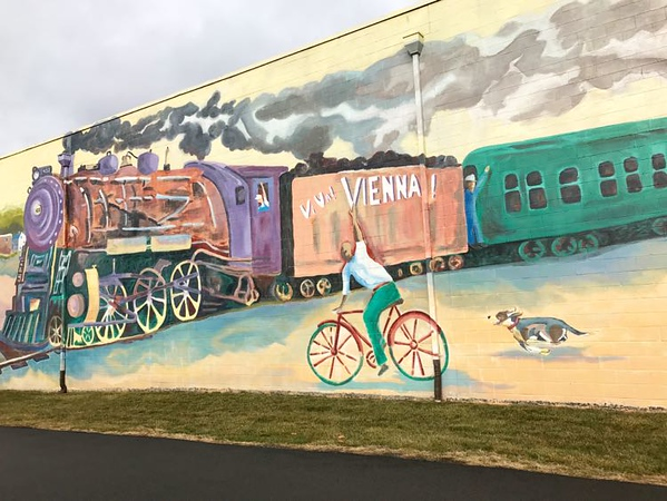 Best street art of Virginia of a bike trail