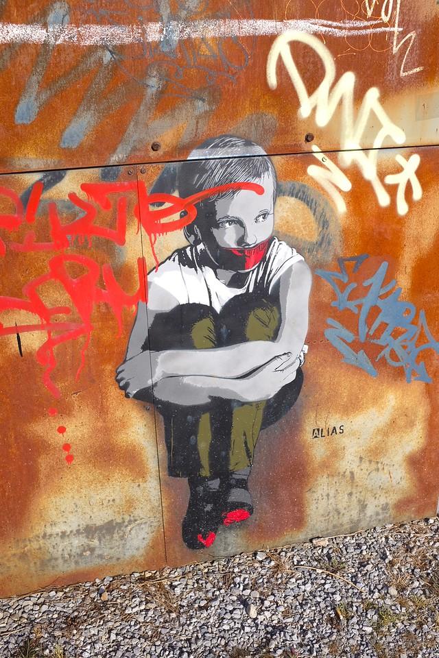 Best street art of Switzerland by the artist ALIAS