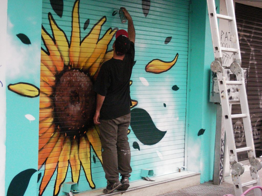street art in process