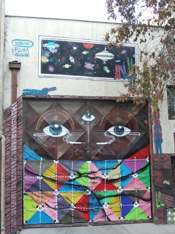 street art on side street of Barrio Brasil