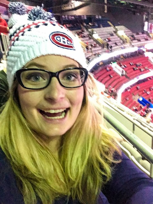 A happy face! Who wouldn't be overjoyed with 72 hours in Montreal?