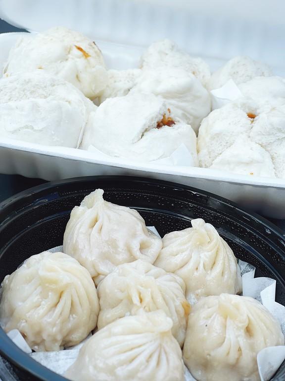 Steamed BBQ pork buns and Shang Hai pork dumplings at Ha's Dim Sum Noodle House in Ottawa