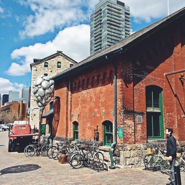 Exploring the Distillery District in Toronto