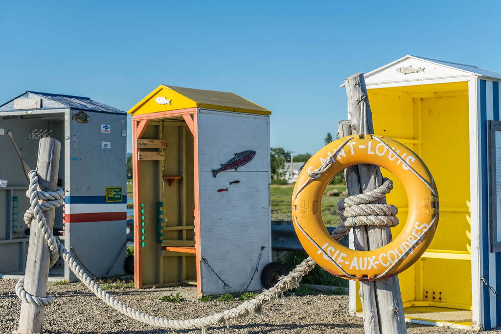 Fishing huts on L'Isle-aux-Coudres