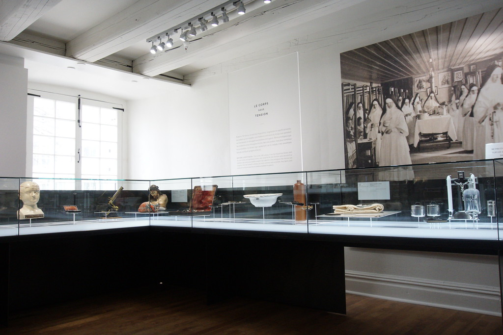 Medical artifacts inside the museum