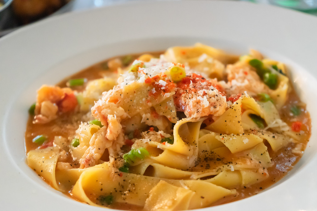 Lobster Pappardelle at Matto in Quebec City