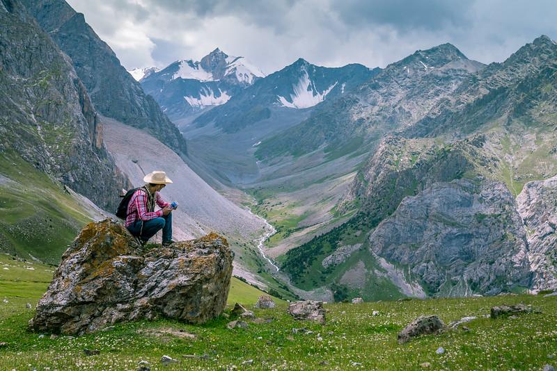 Pamir Mountains near Osh, Kyrgyzstan.
