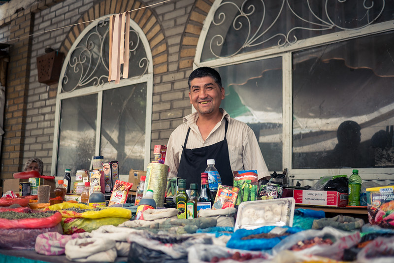 vendor at Osh Jayma Bazaar