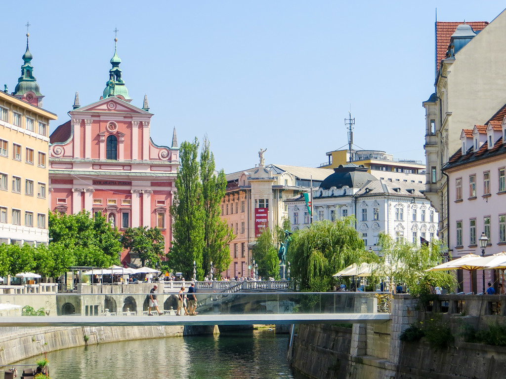 Ljubljana is Slovenia's capital city and worth a quick trip.