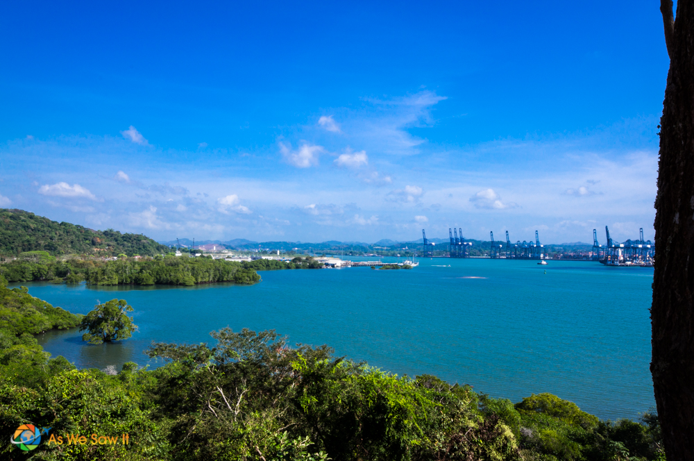 View of the Panama Canal from the Chinese Monument.