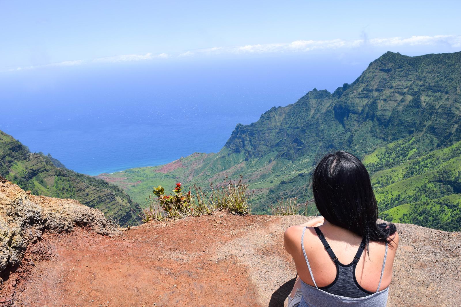Kalalau Valley from the Pu'u o Kila lookout in Kauai, Hawaii