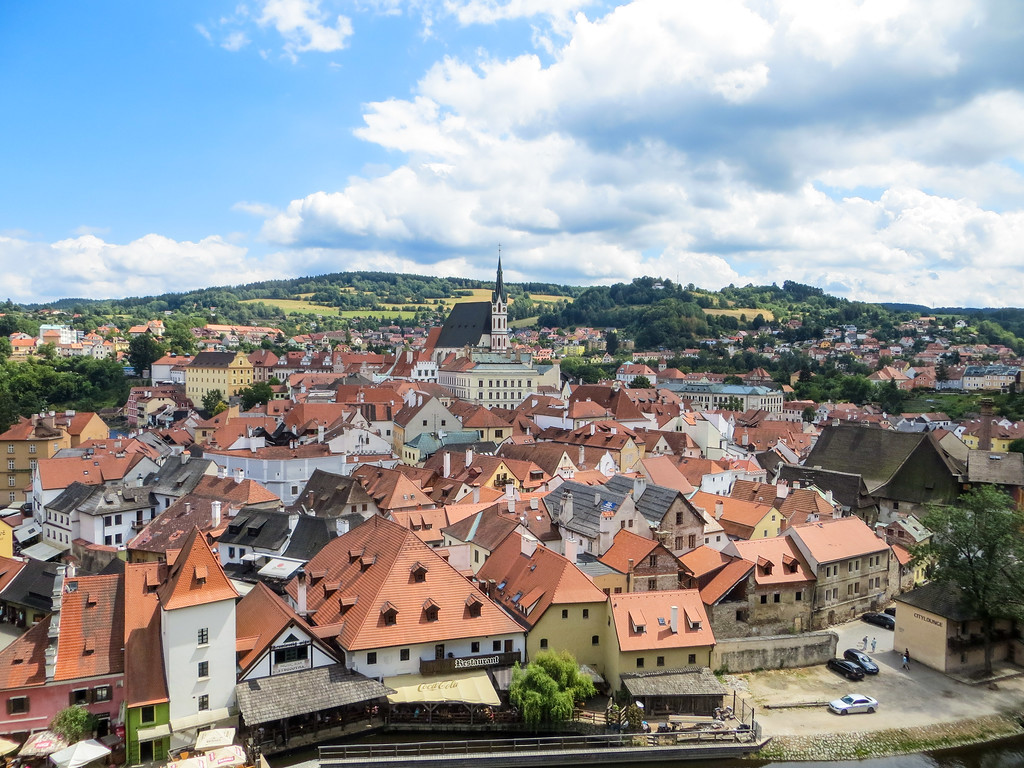magical cesky krumlov is one of the best places to travel alone in europe due to its small size and gorgeous scenery