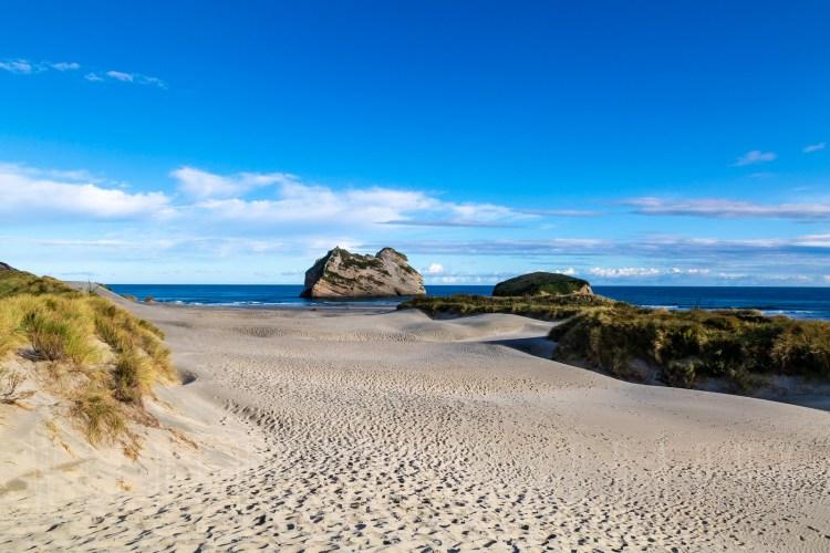 Sand Dunes Wharariki beach