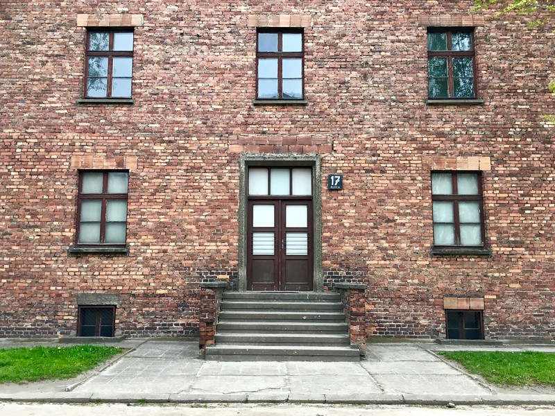 Block 17 at Auschwitz concentration camp