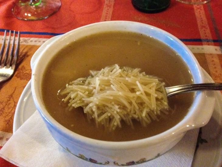 Beef noodle soup at l'Hort de Casa