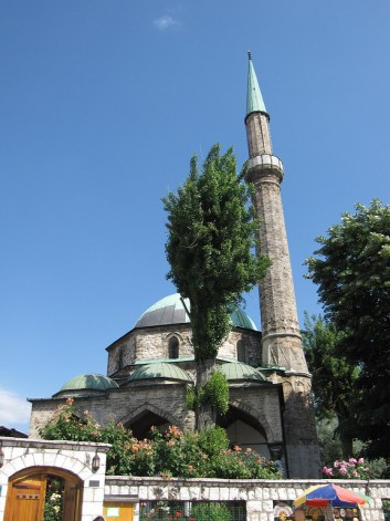 mosque in downtown Sarajevo, Bosnia