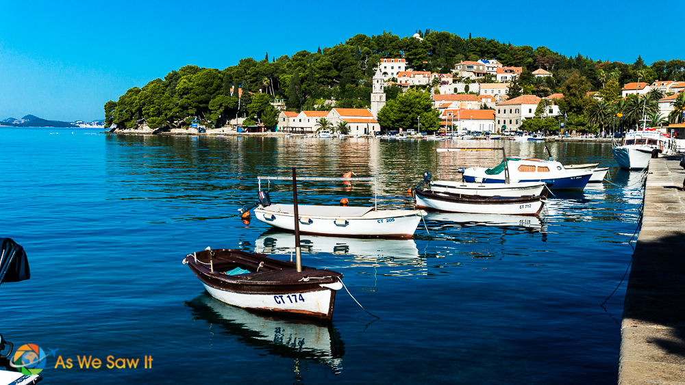 Beautiful waterfront view of Cavtat, Croatia showcases photography you get when you work with us at AsWeSawIt.com