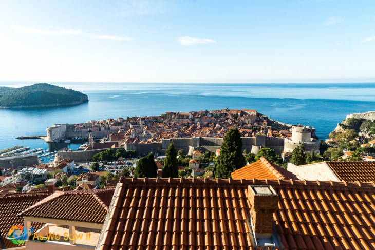 Dubrovnik sparkles in the blue Adriatic waters