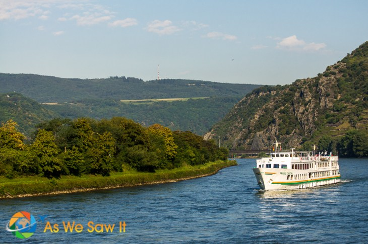 Rhine River cruising is part of the Grand European Tour itinerary.