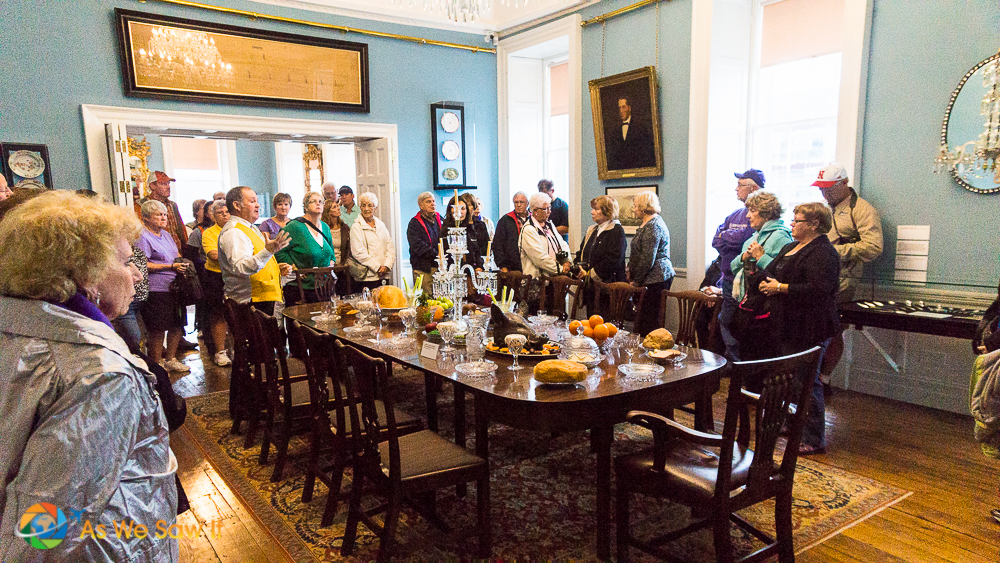Explanation of the Dinning Room in the Bishop's Palace.