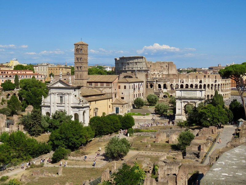 View of the Roman Forum from the Palatine Hill