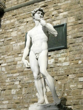 replica of Michaelangelo's David