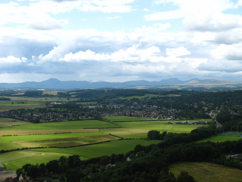 Views from the top of the William Wallace Monument