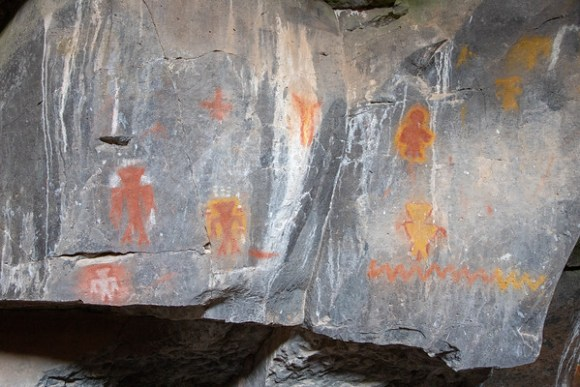 Paiute Cave Pictographs