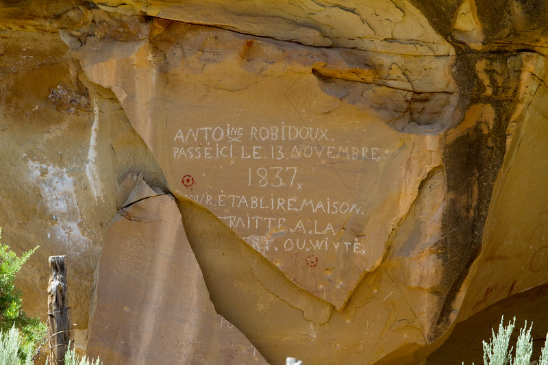 Robidoux Inscription and Pictographs