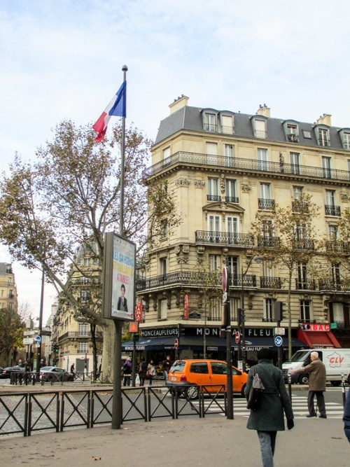 Strolling the streets of Paris in November.