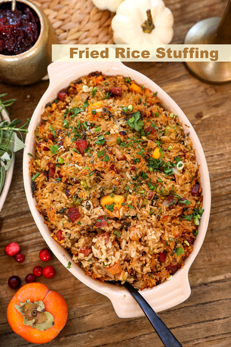 Fried Rice Stuffing Recipe & Video